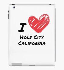 Ich liebe Holy City Kalifornien iPad-Hülle & Klebefolie