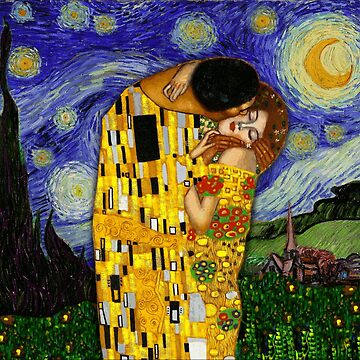 the kiss under the starry night by FandomizedRose