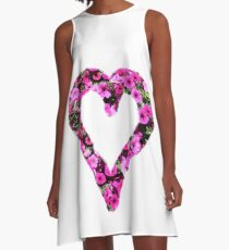 red and pink Petunia heart A-Line Dress