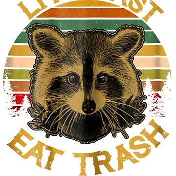 Live Fast Eat Trash Funny Raccoon Camping Vintage Gift by pigpro