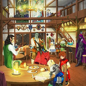 Evening at the Ashfire Inn by ghostfire