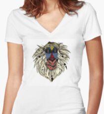 Ornate Color Rafiki Women's Fitted V-Neck T-Shirt