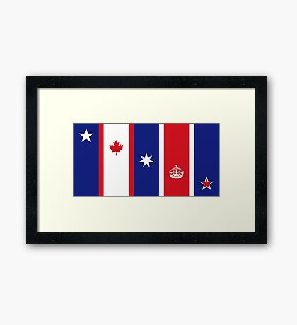 The Five Eyes Framed Print