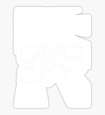 Godzilla Kanji-Wht Sticker