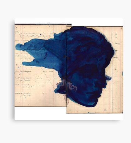 blue profile Canvas Print