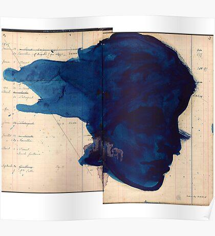 blue profile Poster