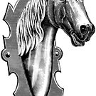 Horse head Plaque by Hedrin