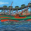 180 - SOUTHSIDE STAITHES, BLYTH, 1910  - DAVE EDWARDS - GOUACHE - 2007 by BLYTHART