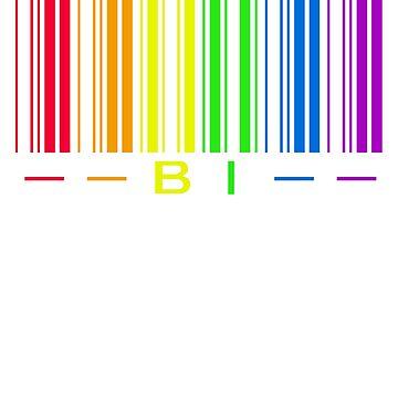 LGBTQ Bi Rainbow Barcode  by ThatMerchStore