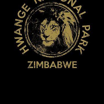 Zimbabwe Lion Hwange National Park African Safari by IronEcho