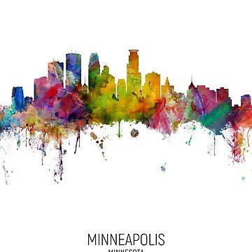 Minneapolis Minnesota Skyline by ArtPrints