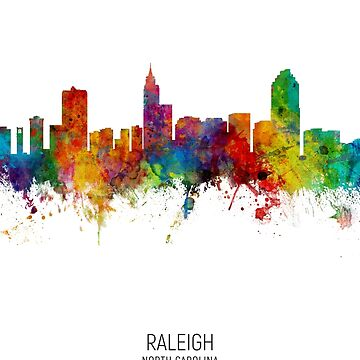 Raleigh North Carolina Skyline by ArtPrints