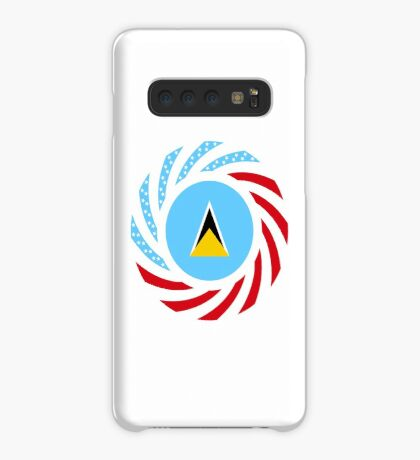 Saint Lucian American Multinational Patriot Flag Series Case/Skin for Samsung Galaxy