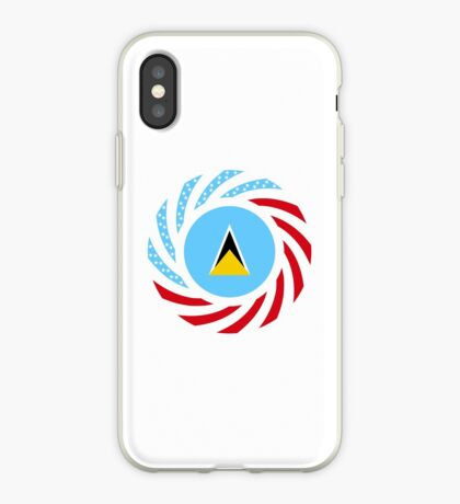 Saint Lucian American Multinational Patriot Flag Series iPhone Case