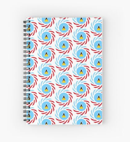 Saint Lucian American Multinational Patriot Flag Series Spiral Notebook
