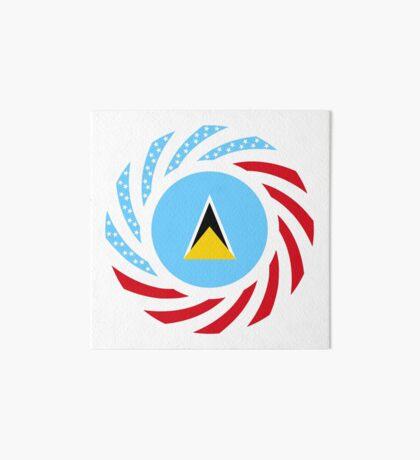 Saint Lucian American Multinational Patriot Flag Series Art Board Print