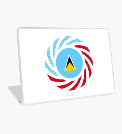 Saint Lucian American Multinational Patriot Flag Series Laptop Skin