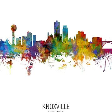 Knoxville Tennessee Skyline by ArtPrints