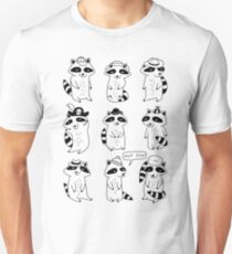 Raccoon Hat Party Unisex T-Shirt