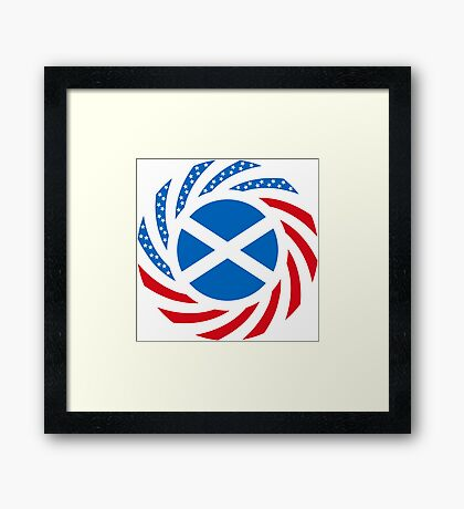Scottish American Multinational Patriot Flag Series Framed Print