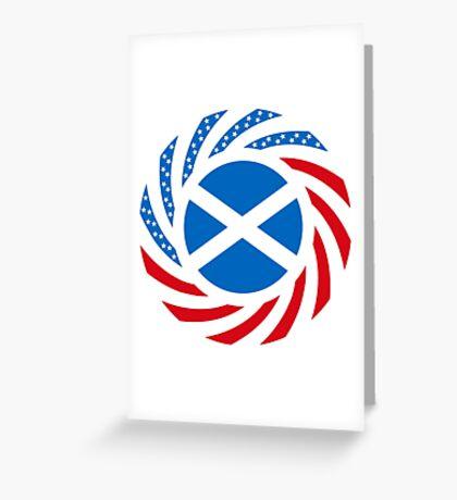 Scottish American Multinational Patriot Flag Series Greeting Card