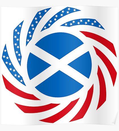 Scottish American Multinational Patriot Flag Series Poster