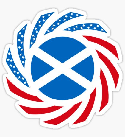 Scottish American Multinational Patriot Flag Series Sticker