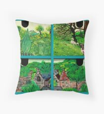 Chest of Wooden Drawers  Throw Pillow