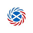 Scottish American Multinational Patriot Flag Series by Carbon-Fibre Media