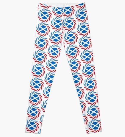 Scottish American Multinational Patriot Flag Series Leggings