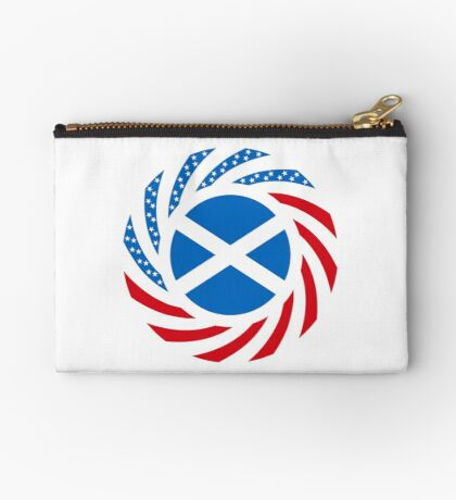 Scottish American Multinational Patriot Flag Series Zipper Pouch