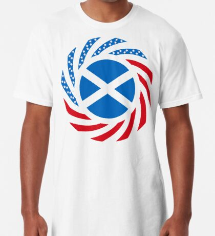 Scottish American Multinational Patriot Flag Series Long T-Shirt