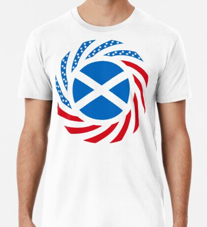 Scottish American Multinational Patriot Flag Series Premium T-Shirt