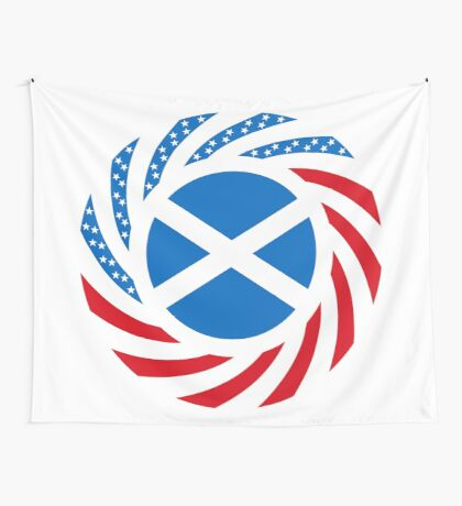 Scottish American Multinational Patriot Flag Series Wall Tapestry