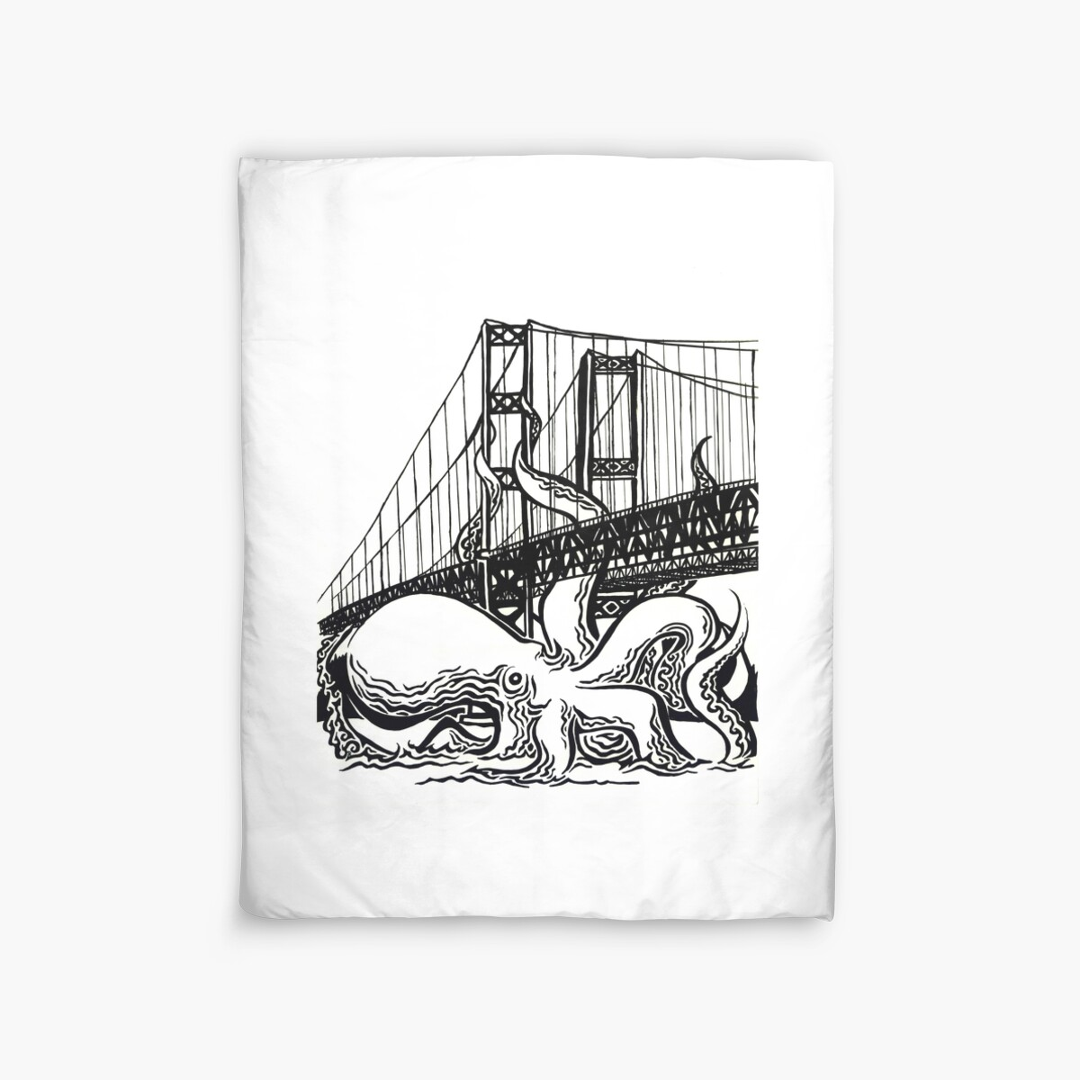 tacoma narrows octopus duvet covers by arielpopp  redbubble - tacoma narrows octopus by arielpopp