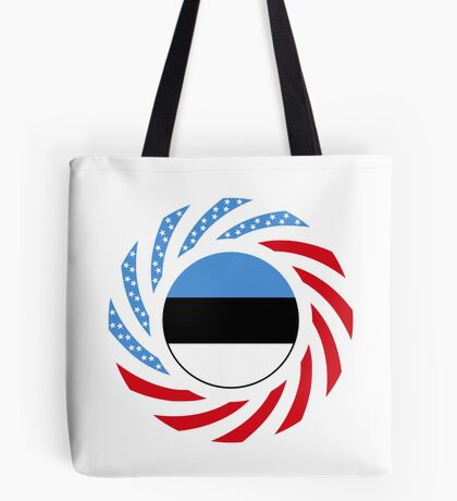 Estonian American Multinational Patriot Flag Series Tote Bag