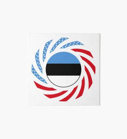 Estonian American Multinational Patriot Flag Series Art Board Print
