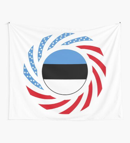 Estonian American Multinational Patriot Flag Series Wall Tapestry