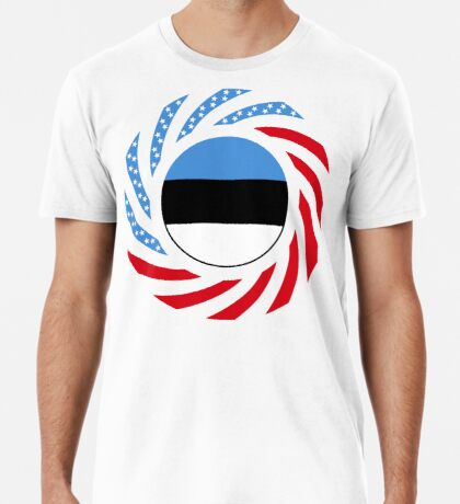 Estonian American Multinational Patriot Flag Series Premium T-Shirt
