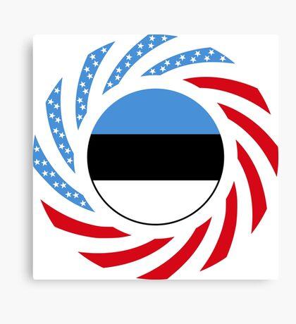 Estonian American Multinational Patriot Flag Series Canvas Print