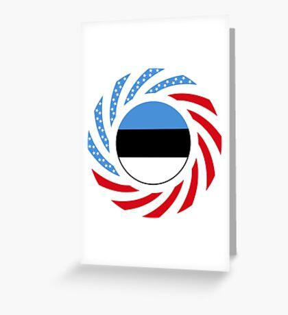 Estonian American Multinational Patriot Flag Series Greeting Card