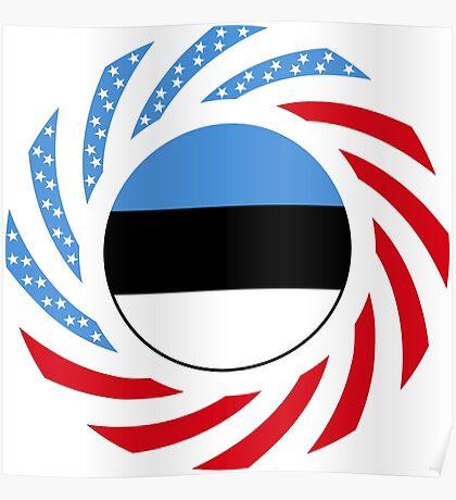 Estonian American Multinational Patriot Flag Series Poster