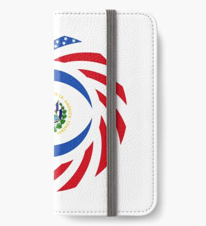 Salvadoran American Multinational Patriot Flag Series iPhone Wallet