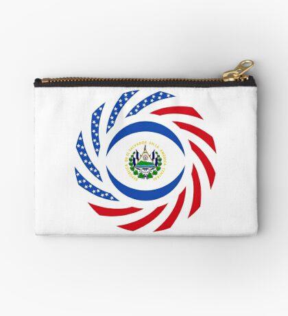 Salvadoran American Multinational Patriot Flag Series Zipper Pouch