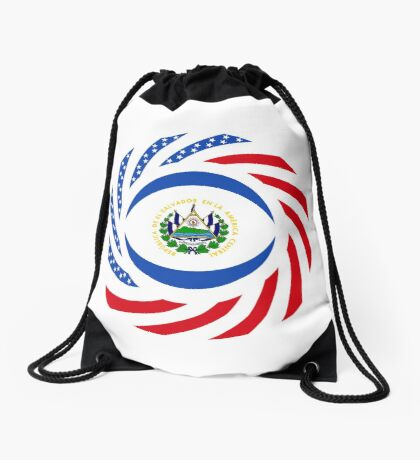 Salvadoran American Multinational Patriot Flag Series Drawstring Bag