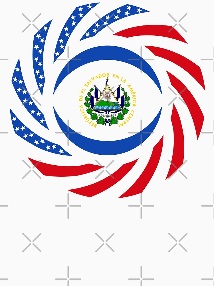 Salvadoran American Multinational Patriot Flag Series by carbonfibreme