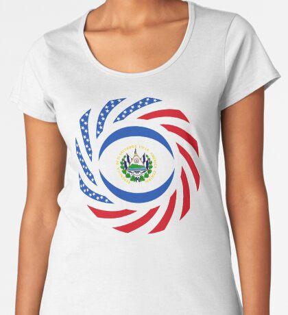 Salvadoran American Multinational Patriot Flag Series Premium Scoop T-Shirt