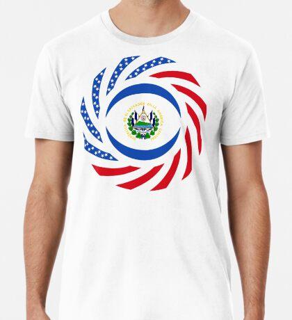 Salvadoran American Multinational Patriot Flag Series Premium T-Shirt