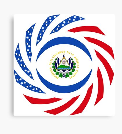 Salvadoran American Multinational Patriot Flag Series Canvas Print