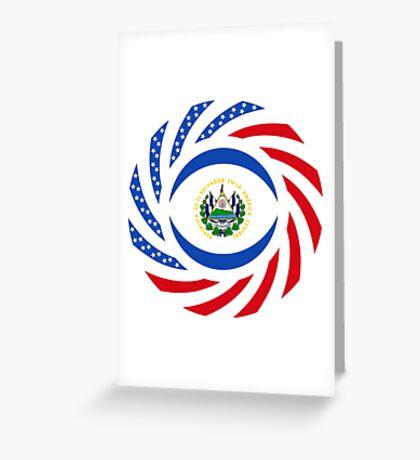 Salvadoran American Multinational Patriot Flag Series Greeting Card